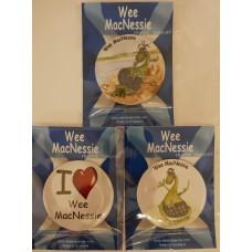 Wee MacNessie Fridge Magnets (Set 2)