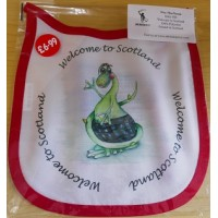 Wee MacNessie Baby Bib - Welcome to Scotland