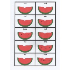 Dutch watermelon  number dominoes