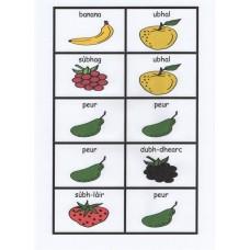 Gaelic fruit dominoes