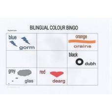 Bilingual English/Gaelic colour bingo (5+ years)