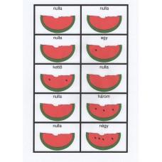 Hungarian watermelon  number dominoes