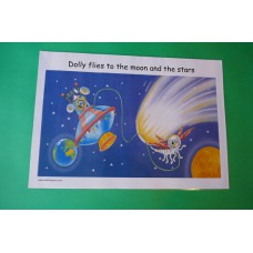 A3 Dolly the Dragonfly in Space Laminated Poster