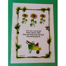 A3 Gaelic rhyme/song - Cuir, cuir, cuir do shìl Laminated Poster