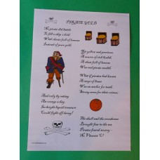 A3 Pirate Gold Laminated Poster