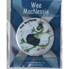 Wee MacNessie fridge magnet - swimming