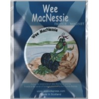 Wee MacNessie fridge magnet - tartan spots