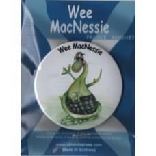 Wee MacNessie fridge magnet - waving