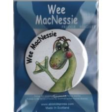 Wee MacNessie fridge magnet - waving headshot